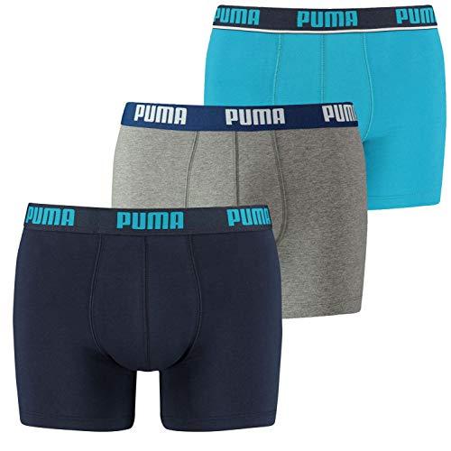 PUMA Herren Promo Lot DE 3 Boxer Homme Badehose, Blau (bleu 056), XL (3er Pack)