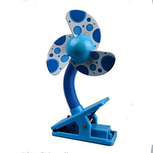 Handheld Fan babybed wandelwagen Fan Mini Portable Clip USBCharging slaapzaal Office Small Electric Fan sudaijins (Color : Blue)