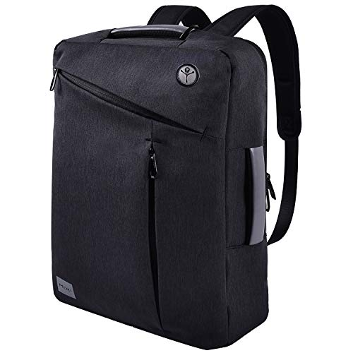 15.6 inches Laptop Backpack Computer Cases, Convertible Business Backpack Briefcase Messenger Bag, Multi-Functional Travel Rucksack Daypack School Bookbag Handbag for Women Men Students