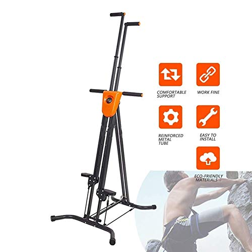 DSHUJC Vertical Climber Machine for Home Gym Vertical Climbing Exercise Machine-Adjustable Height-Folding Climbing Machine-for Full Body Cardio Workout