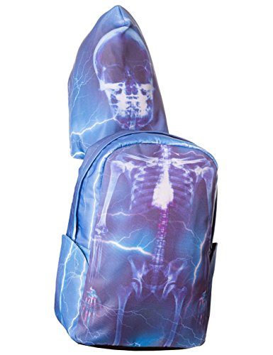 Banned Rucksack mit Kapuze SKELETON BACKPACK WITH HOOD 7011 Blau one size