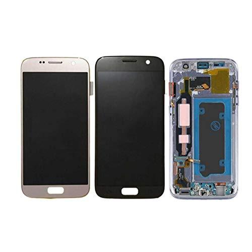 Marco de pantalla táctil de teléfono móvil Ajuste Para S7 5.1 '' LCD Reemplazo De Ajuste Para Fit For Samsung Galaxy S7 Pantalla G930 G930F Montaje Digitalizador De Pantalla Táctil Con Marco Panel dig