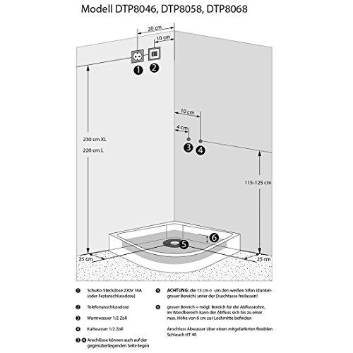 AcquaVapore DTP8058-5002 Dusche Dampfdusche Duschtempel Duschkabine 90×90 XL, EasyClean Versiegelung der Scheiben:2K Scheiben Versiegelung +89.-EUR - 5