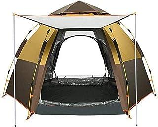 BAOJIADA テント ワンタッチテント ドーム型 3-5人用 2WAY テント 設営簡単 撥水加工 UVカット 通気性 超軽量 防災用 キャンプ用品 登山用品 アウトドア 耐水圧3000mm 収納袋付き BA-DZB-028