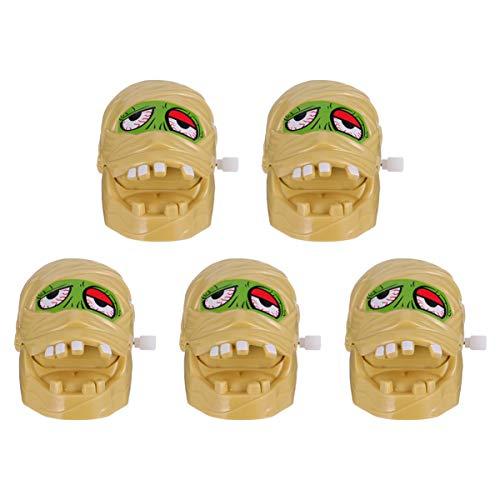 PRETYZOOM 5 Stücke Kinder Aufziehspielzeug Halloween Mumie Figur Uhrwerk Spielzeug Aufziehfigur Dekofigur Tischdeko für Kindergeburtstag Mitgebsel Horror Party Deko Dekoration