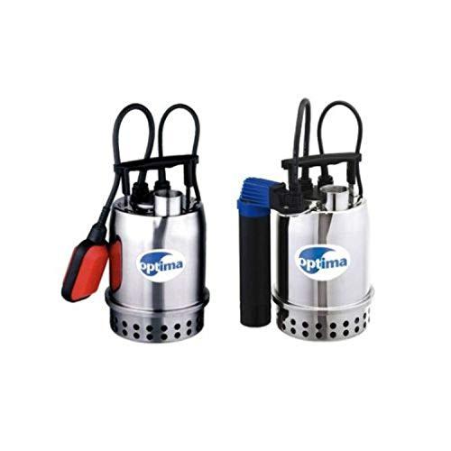 Optima M Serie 175100000 Tauchpumpe für Hauswasser, Überschwemmung, Edelstahl, 0,25 kW, 0,33 PS, grau