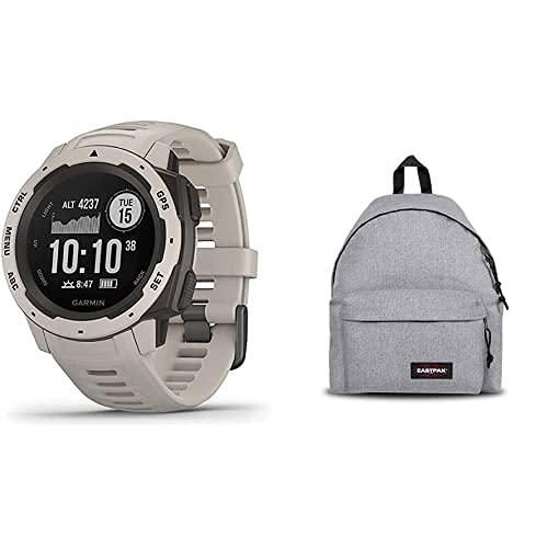 Garmin Instinct - Reloj con GPS, Unisex, Tundra, 1 + Eastpak Padded Pak'R Mochila, 40 Cm, 24 L, Gris (Sunday Grey)