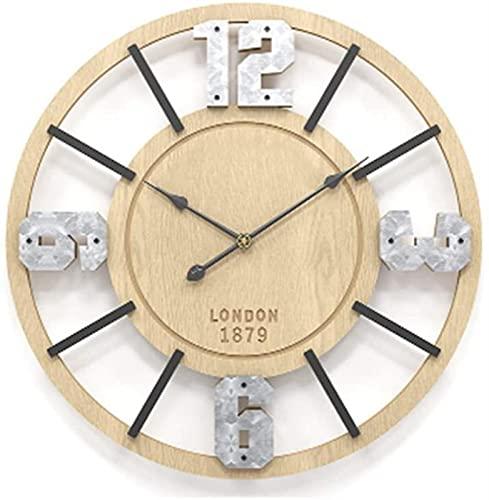 Reloj de Pared Minimalista nórdico, Dormitorio, Sala de Estar, Reloj de Pared, Reloj de Pared Digital silencioso Creativo, diámetro de 50 CM, Estudio
