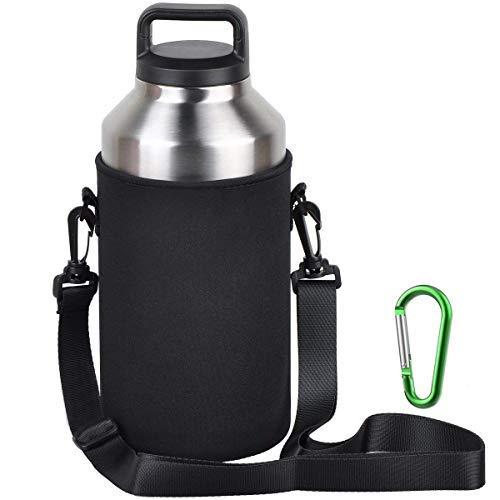 EEEKit Water Bottle Sleeve for 64oz YETI Rambler Ozark Rtic Stainless Steel Bottle(64oz),Hydro Flask 64 oz, Neoprene Tumbler Travel Holder Bag with Removable Shoulder Strap