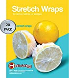 Lemon Wrap, Lemon Covers, Lemon Stretch Wraps for Lemon Halves and Wedges, Bag of 20