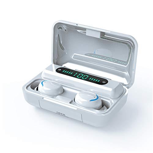 HBNW Auriculares Internos Inalámbricos, Auricular Bluetooth 5.0, con Función Impermeable Ipx6 Y Reducción Activa De Ruido (ANC), Adecuados Entrenamiento Deportivo,Juego,Oficina