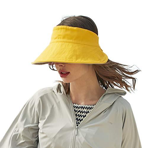 CACUSS Algodon Reversible Sombreros Gorra de Viseras Sombreros Playa Mujer Verano UPF 50+ Plegable