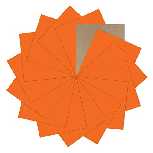 "Orange Heat Transfer Vinyl Bundle : 15 Pack 12"" x 10"" Sheets - Orange Iron on Vinyl for DIY Iron on Fabrics T-Shirts Heat Press Machine"