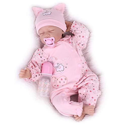 Kaydora Reborn Baby Dolls, Realistic Baby Reborn Dolls, 22inch Sleeping Lifelike Baby Dolls for Girl Age 3+