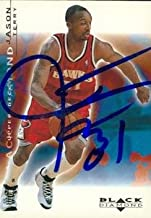 Autograph Warehouse 53135 Jason Terry Autographed Basketball Card Atlanta Hawks 2001 Upper Deck Black Diamond No .3