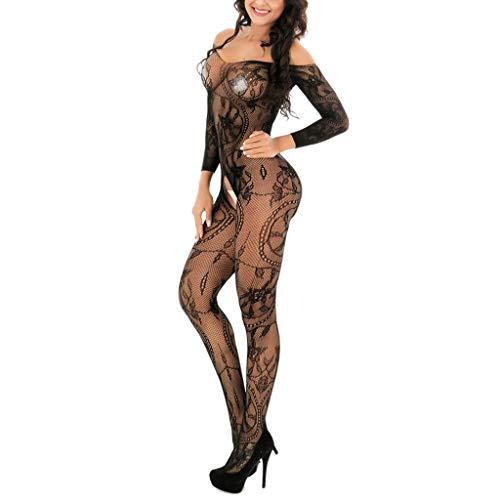 Intimo Donna Sexy Stripper Outfit Latex Wet Look Catsuit Moda Lingerie Tuta a Rete Scava Fuori Tuta Sexy Vestiti Sesso Night Club Costume per Anniversari o San Valentino
