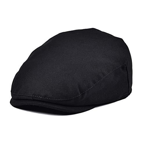 JANGOUL Baby Boy's Cotton Hat Driver Page Boy Cap Fully Lined Newsboy Cap Black