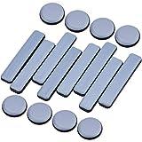 [Riduzione del rumore] Posiziona i cursori circolari dei mobili in moquette sotto i mobili, puoi facilmente trascinare i mobili pesanti senza graffiare o danneggiare la superficie del pavimento / moquette. Allo stesso tempo riduce l'attrito e il rumore.