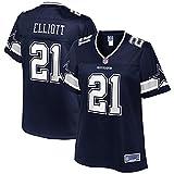 NFL PRO LINE Women's Ezekiel Elliott Navy Dallas Cowboys Player Team Jersey
