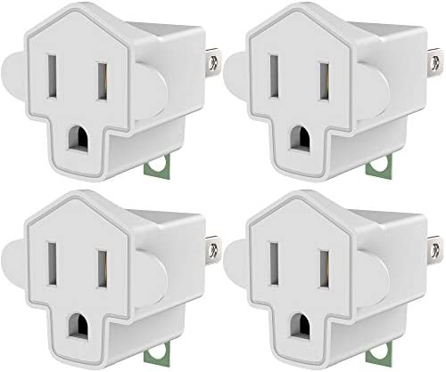 ETL Listed 3 2 Prong Grounding Outlet Adapter JACKYLED 3 Prong to 2 Prong Adapter Converter product image