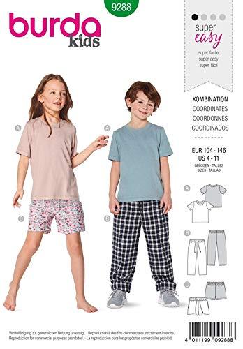 Burda 9288 Schnittmuster Kombination (Kids, Gr. 104-146) Level 0 super Easy