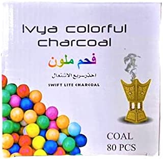 Colorful Incense and Hooka Charcoal Magic Coal 80 pcs