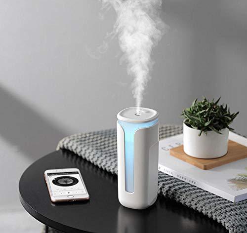 TaoRan USB-luchtbevochtiger, mini-operatie, eenvoudige uitschakeling, automatisch, kleurverloop mogelijk, 2 snelheden, mist, kantoor, huis, auto, kantoor, luchtbevochtiger