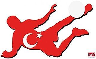 Fútbol - Futbolista con Camiseta, Turquía Pegatina para Pared (120 x 60cm)