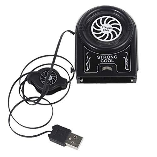 Almohadilla de refrigeración para ordenador portátil, mini ventilador de refrigerador de vacío con 1 ventiladores/1 puertos USB, para portátil de 12 a 15,6 pulgadas