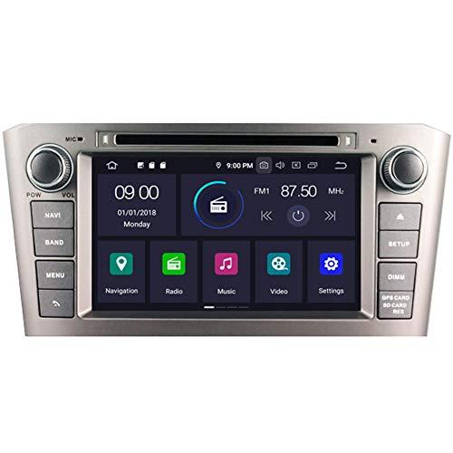 Autosion Android 9.0 64 Go de mémoire RAM lecteur DVD de voiture GPS Radio Navigation Autoradio stéréo Wifi pour Toyota Avensis T250 2003 2004 2005 2006 2007