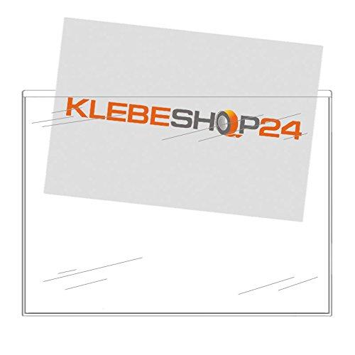 Selbstklebetaschen transparent | DIN lang, A4, A5 oder A6 | Breite Seite offen | 20 oder 100 Stück | Klarsichthüllen zum Kleben | Rechtecktaschen für Dokumente, Prospekte, Flyer, Fotos, Karten etc. / DIN A5 20 Stück