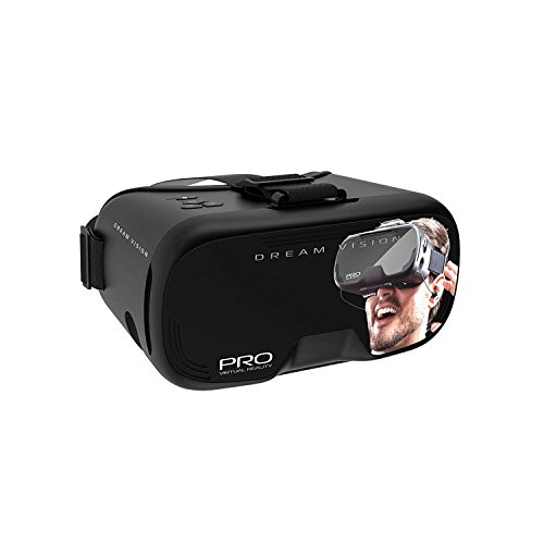 Dream Vision Virtual Reality Smartphone Headset For iPhone And Android Phones Up To Six Inches. Top Ten VR Apps Included -- Red