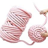 gaeruite tejida a mano fieltro de lana gigante de lana tejeduría manual, ovillo de lana tejer hilos de lana con la mano para DIY couvertur, rosa, comme montré