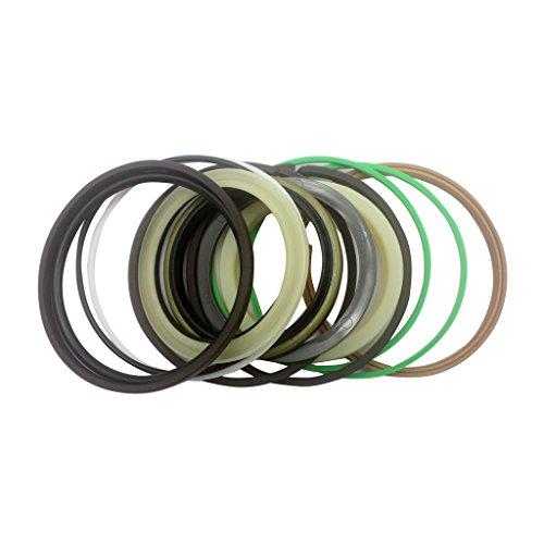 SINOCMP Öl-Dichtungs-Set für Hydraulikzylinder Hitachi Excavator Boom, 2 Stück, ZAX200, 4448398