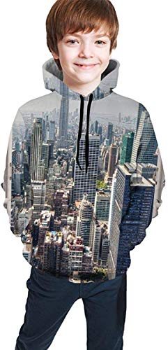 Sudadera Juvenil con Capucha Girls' Youth Teen 3D Print Landscape?out of?Window Pullover Hoodies Hooded Sweatshirts Tops Blouse with Pocket