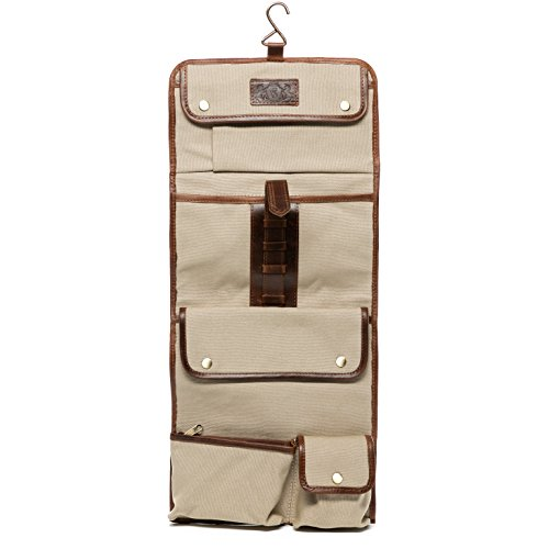 Scotch & Vain borsa toiletry HEATHROW - Necessaire - pochette beauty case vera pelle marroncina (20 x 60 x 3 cm)