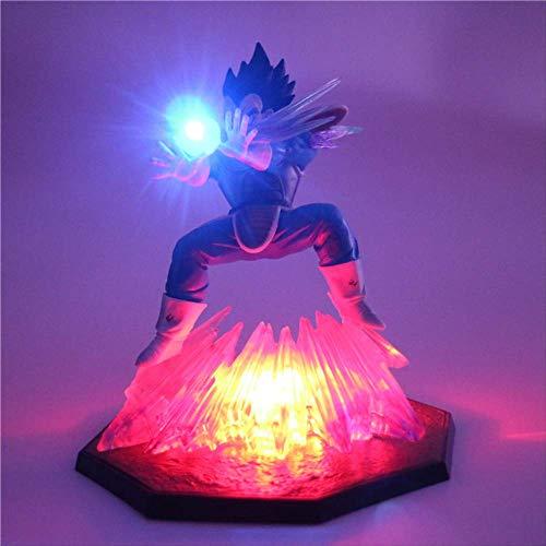 Dragon Ball Z Vegeta Aktion Figuren Lampe 2 Farben Anime Model Night Light Baby Dolls Led-Tischlampe Für Baby Kids 3D Spielzeug Leuchten