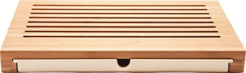 Alessi 'Sbriciola' Bread Board in Bamboo Wood With Crumb Catcher in Thermoplastic Resin, Wood