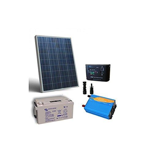 Kit Solar Cabina Pro 80W 12V Placa Panel Inversor Regulador MC4 Bateria 38Ah