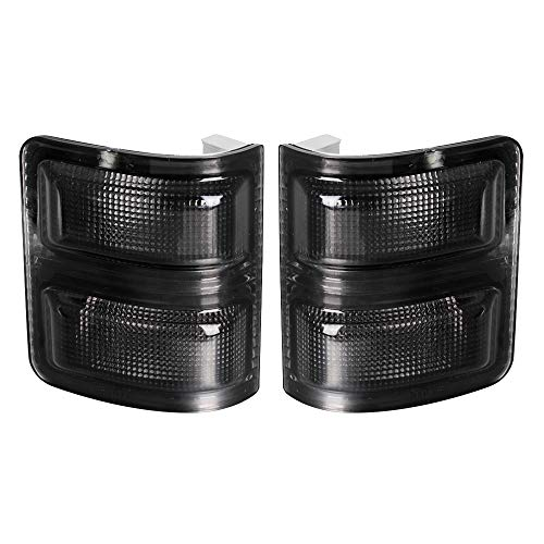 HERCOO Smoke Side Mirror Marker Lights Lens Compatible with 2008-2016 F250 F350...
