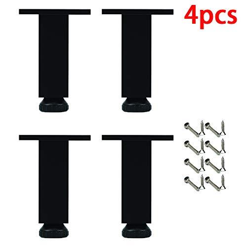 Vier Stukken Van Meubilair Kast Voeten Met in Hoogte Verstelbaar 1Cm Aluminium Legering Materiaal Zwarte Poten Voor Badkamermeubel Sofa TV-Meubel Voeten,40cm