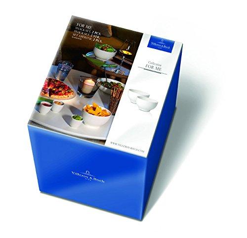 Villeroy & Boch For Me Schalen-Set für Snacks 2-teilig, Premium Porzellan, Weiß, 2-tlg