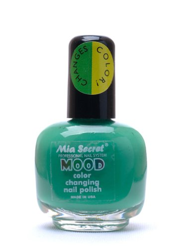 Mia Stimmung-Nail Lacquer Farbwechsel-Nagellack Grün zu Gelb