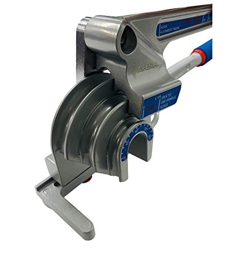 """Imperial Tool 370FH Triple Head 180 Degree Tube Bender, 3/16"""", 1/4"""", 3/8"""", and 1/2"""""""