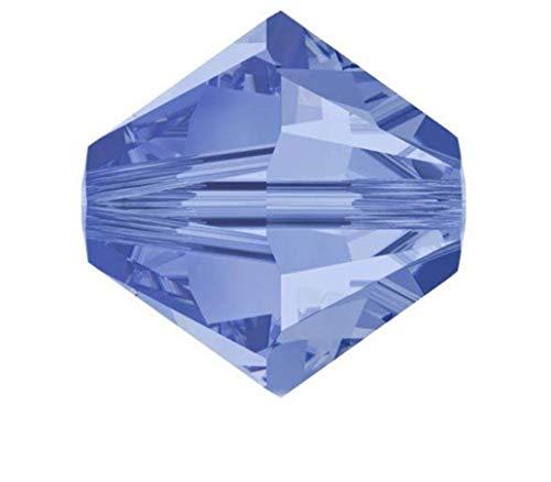 100Adabele bicono perline di cristallo austriaco cristallo compatibile con Swarovski Preciosa Crystalized 5301/5328 5mm Light Sapphire