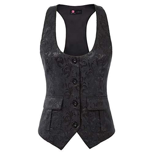Damen Ärmellose Tank Top Weste Hemdbluse Loose fit T Shirt KCE02143-1_S