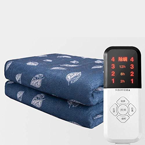 HFS elektrische deken, supersize, zachte deken, grote deken met elektrische verwarming, Overblanket, met timer, 4 verwarming, 200 x 180 cm