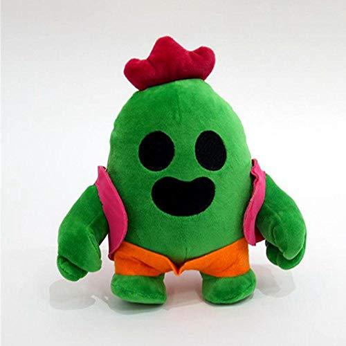 XWYWP Soft Toys 1 pieza de dibujos animados Spike Plush Doll 22cm figuras de acción liberación de habilidades lanzadas granadas Cactus Guerrero Muñeca Modelo Kid Toy 1pcs
