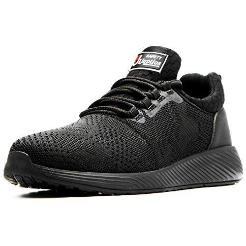 Zapatillas de Seguridad Hombres Hembra, Zapatos de Trabajo con Punta de Acero Ultra Liviano Suave y cómodo Industriales Transpirable
