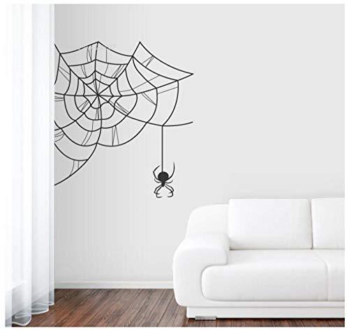 Decor Decalsn Spiderweb muursticker vinyl muursticker woonkamer remoovalbe sterke lijm 58X58cm
